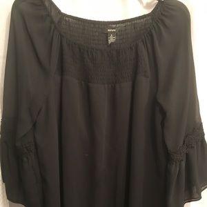 Alfani sheer black blouse